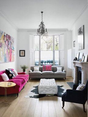 室内后现代风格 客厅沙发颜色搭配