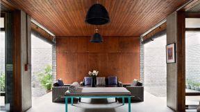 室内后现代风格 吊顶设计装修效果图片
