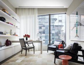 室内后现代风格 书房样板房效果图