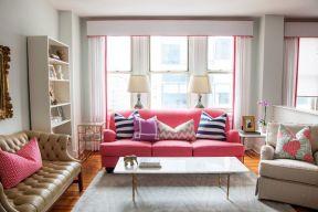 室内后现代风格 客厅沙发摆放装修效果图片