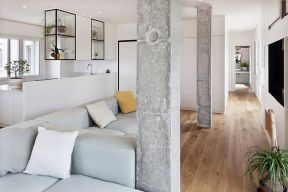 单身公寓室内柱子装修设计图