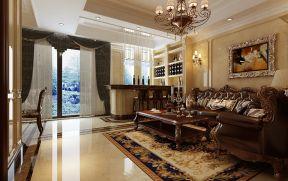 美式風格客廳裝修效果圖 陽臺吧臺裝修效果圖