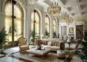 落地飘窗装修效果图 豪华欧式客厅效果图
