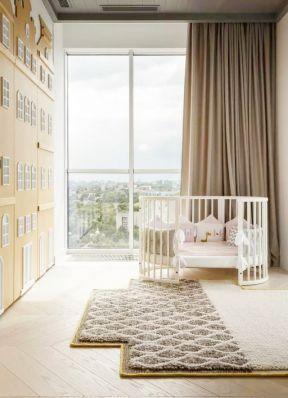 落地飘窗装修效果图 婴儿房装修效果图片