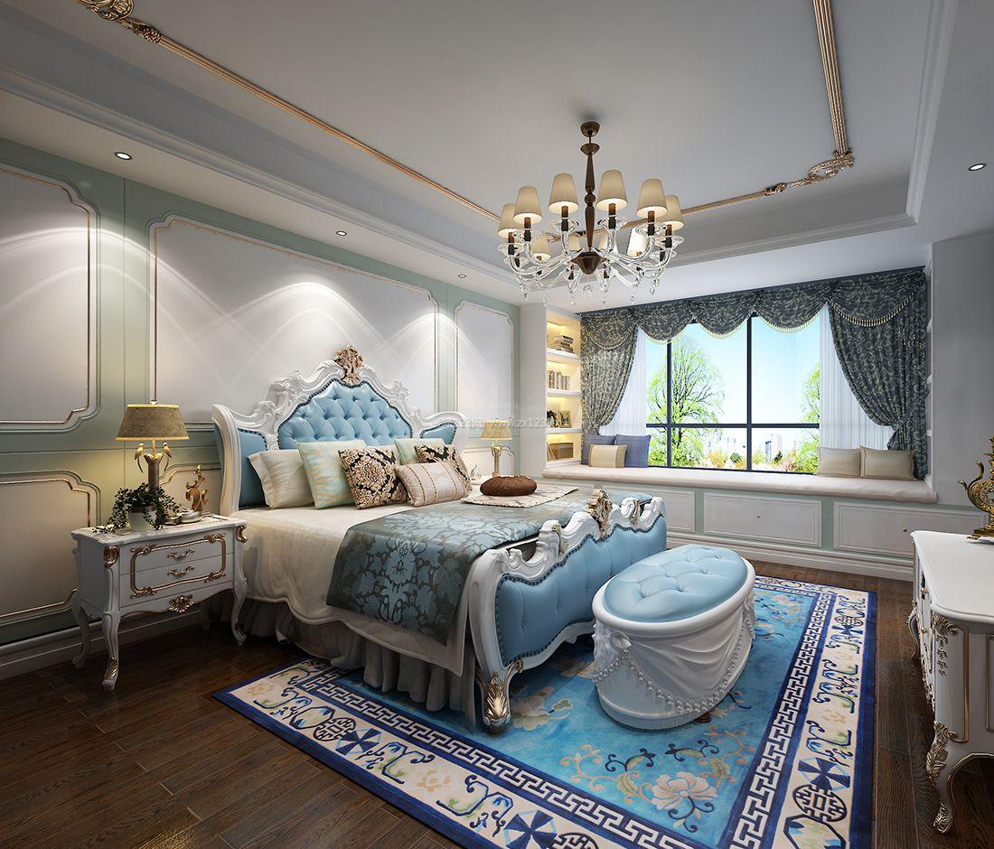 法式风格卧室飘窗榻榻米设计效果图图片