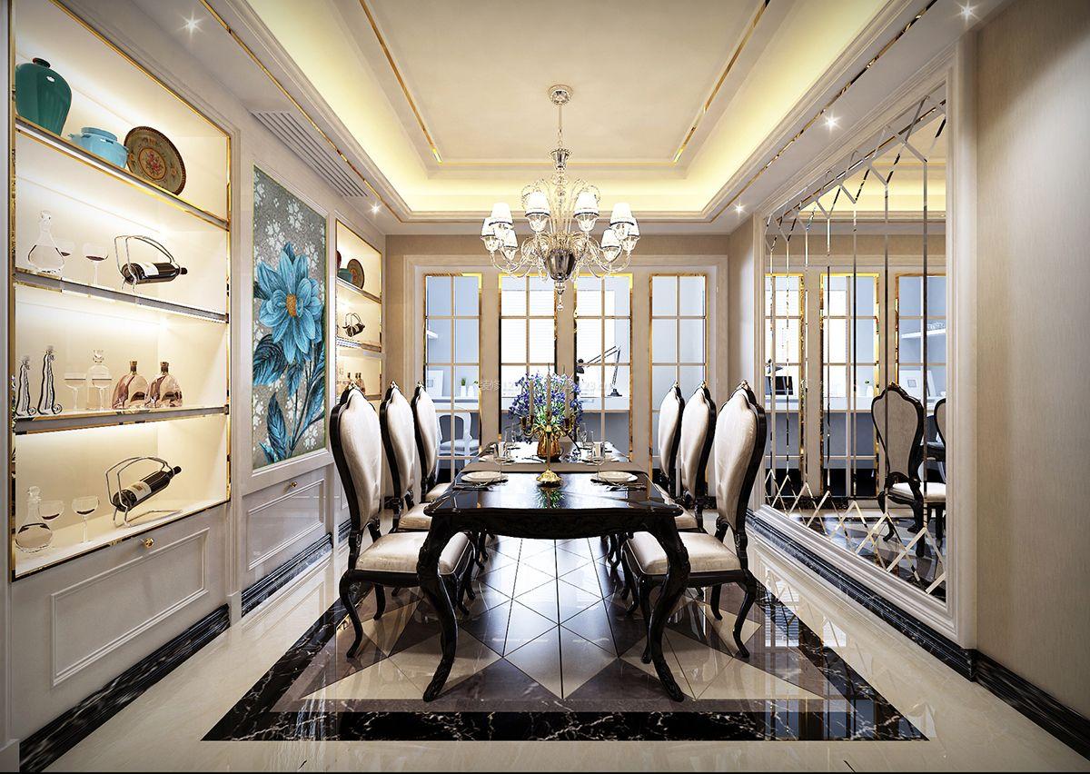 最新欧式风格别墅餐厅装修效果图