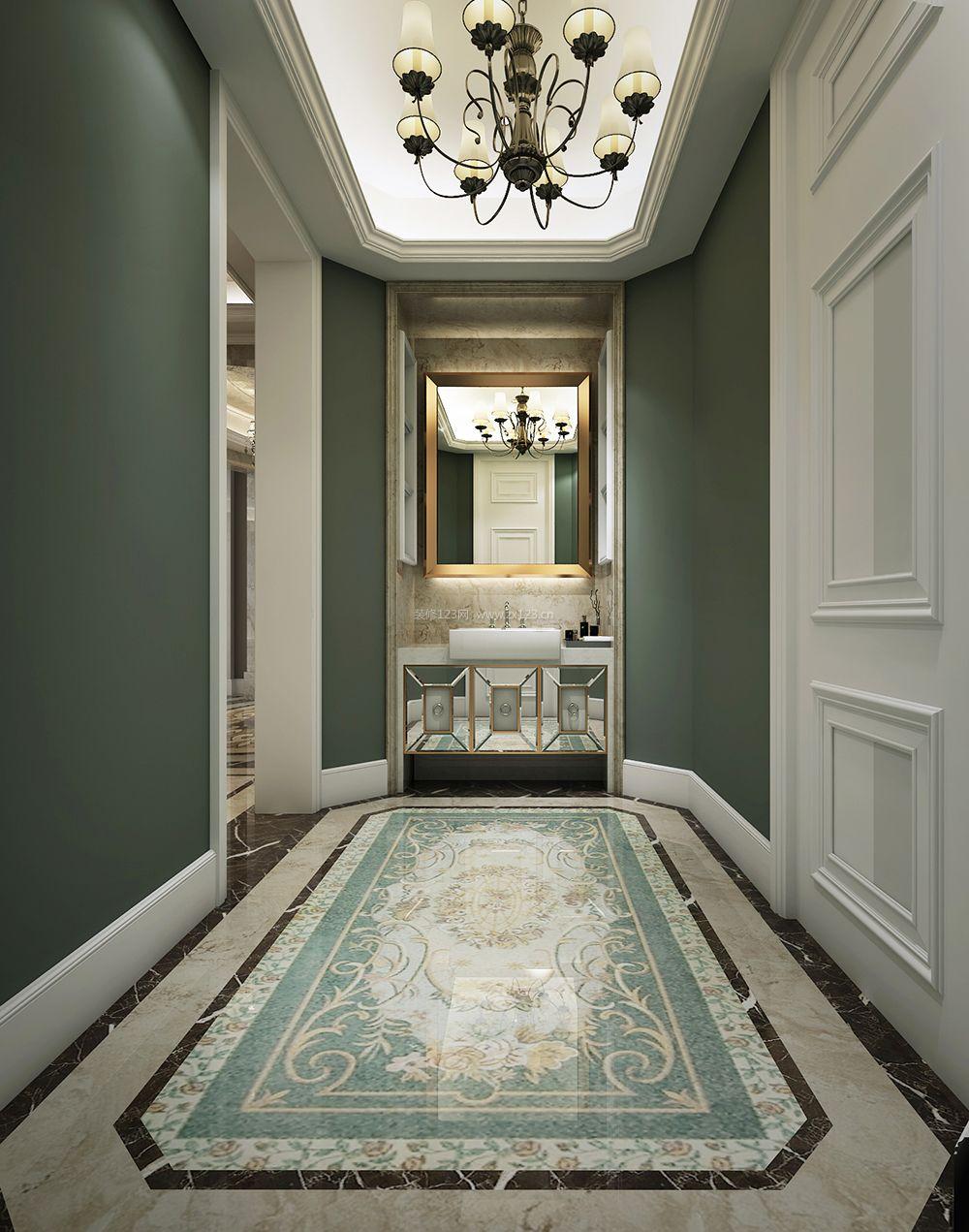 欧式风格别墅拼花地砖装修效果图片