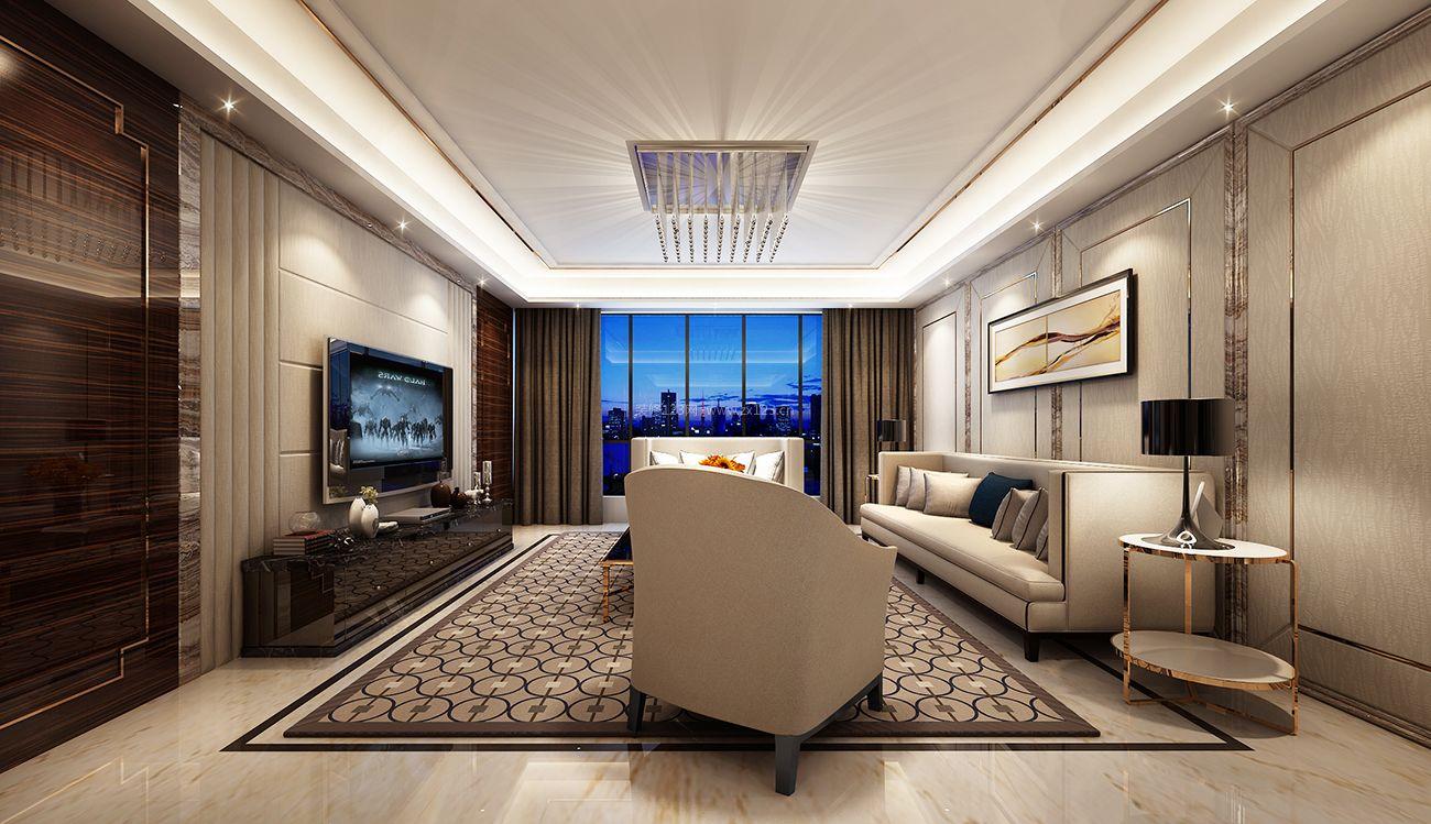 现代港式风格家庭客厅装修效果图