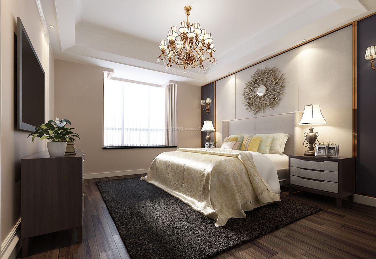 简约北欧风格卧室床头背景墙装修效果图