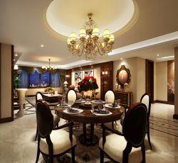 美式古典風格四室兩廳裝修效果圖片
