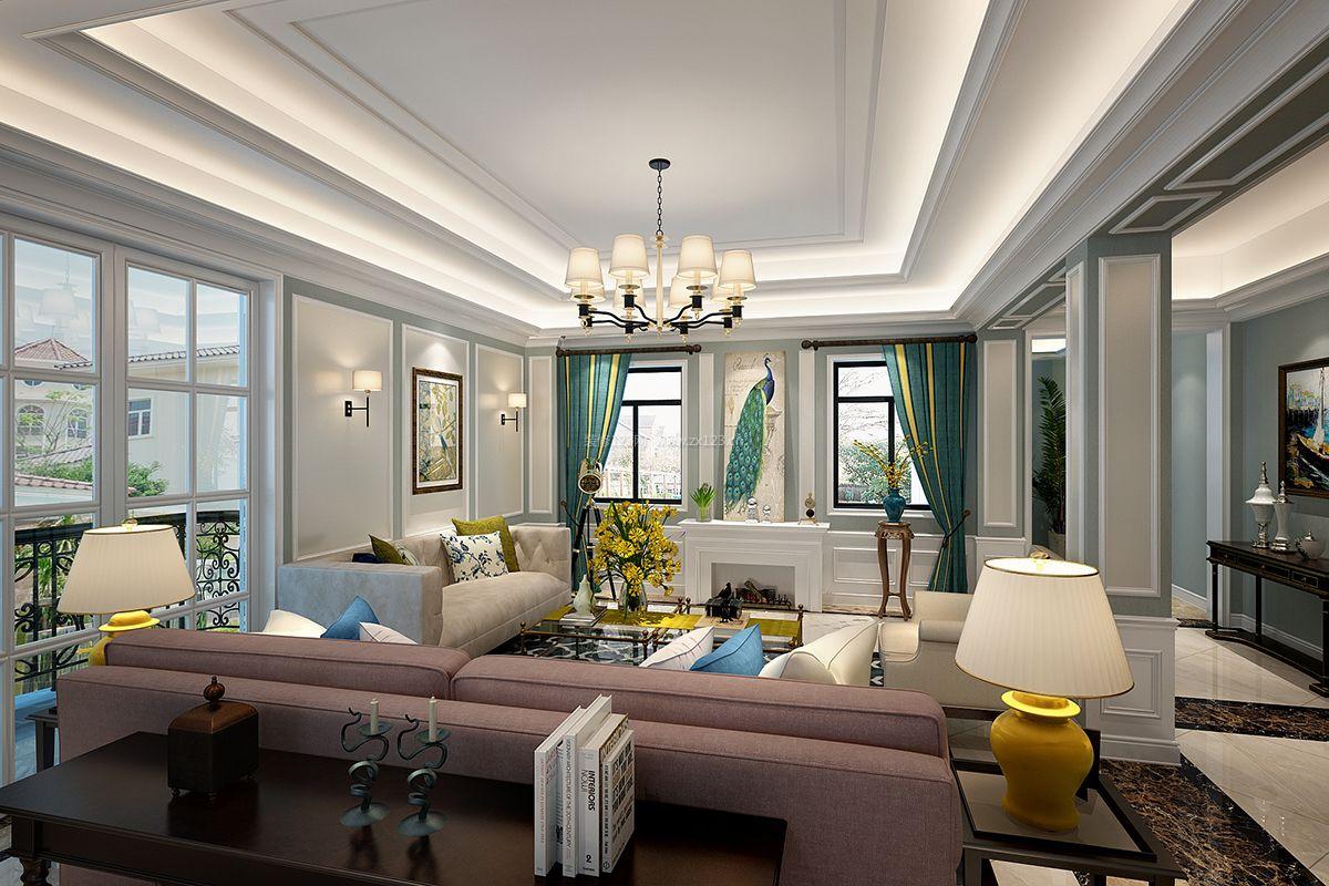 简约法式风格客厅壁炉装修效果图片图片
