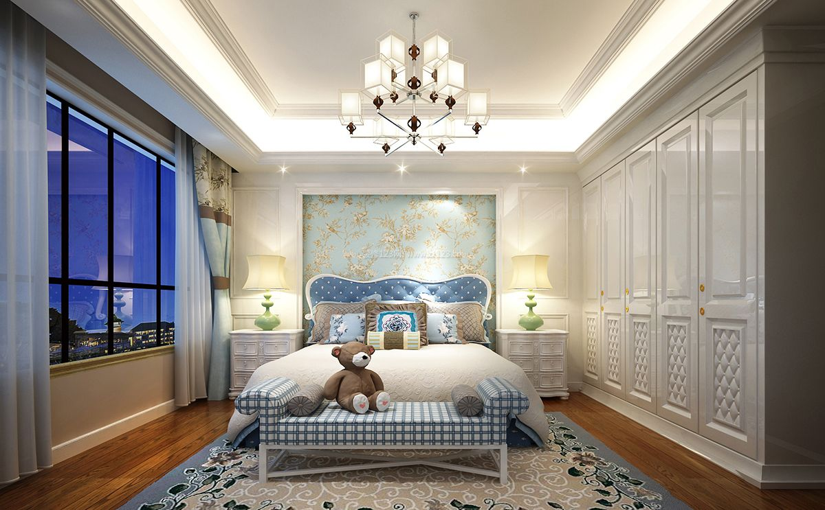 美式卧室整体衣柜装修效果图大全2017图片图片
