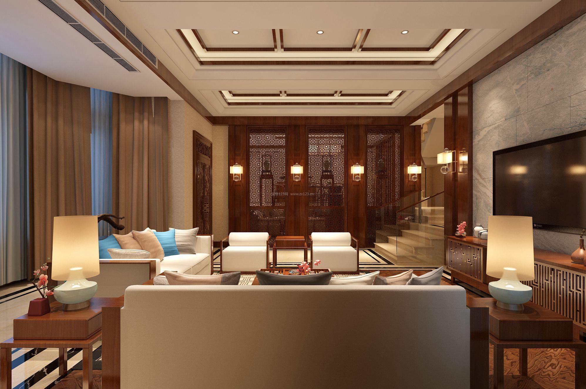 简单中式风格家居壁灯装修效果图片图片