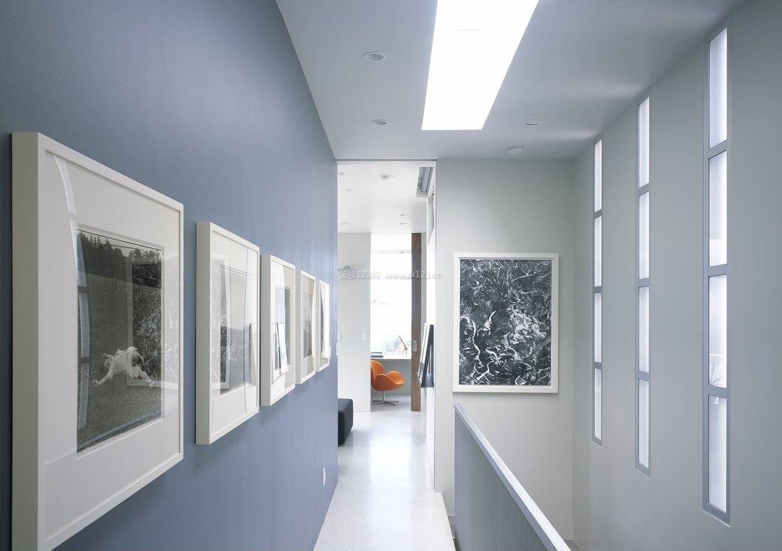 室内设计现代简约走廊过道吊顶效果图