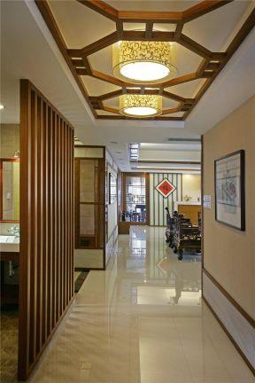 走廊过道吊顶效果图 新中式家装风格效果图图片