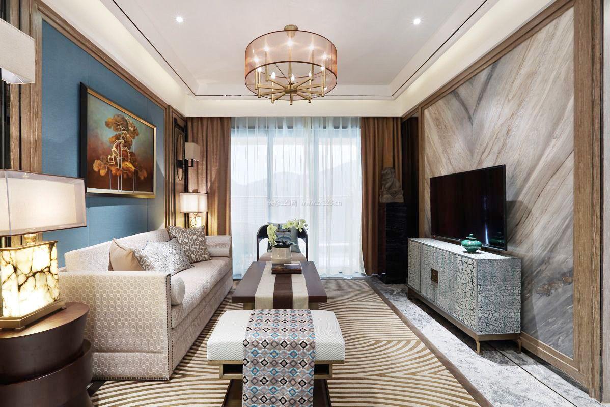 客厅电视背景墙瓷砖装修效果图大全