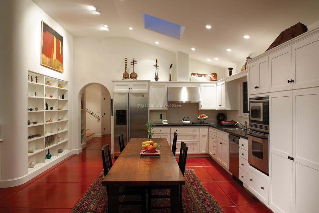 农村两层房屋厨房餐厅设计图片欣赏
