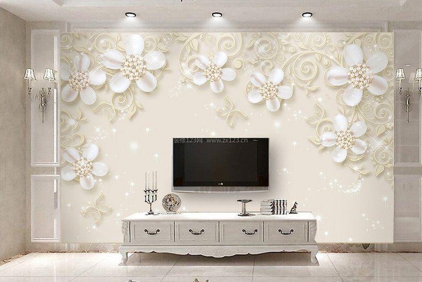 雕花板电视背景墙装修效果图大全