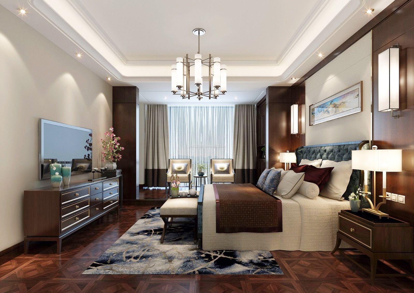 欧式古典卧室电视背景墙设计装修效果图大全图片