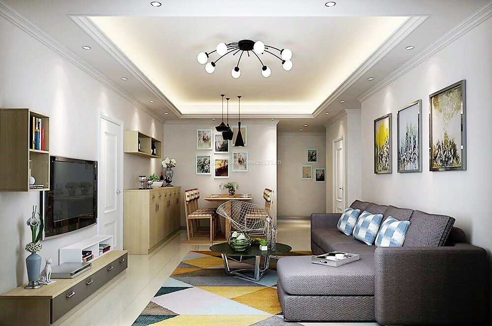 家装欧式客厅电视背景墙装修效果图大全