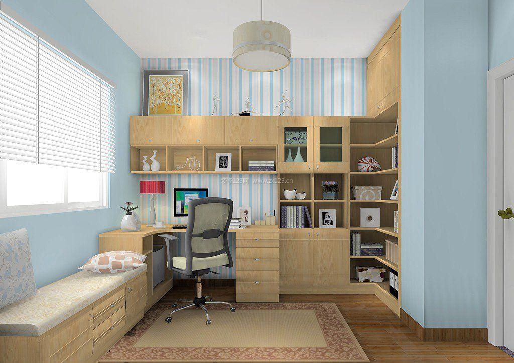 田园风格书房小卧室装修效果图
