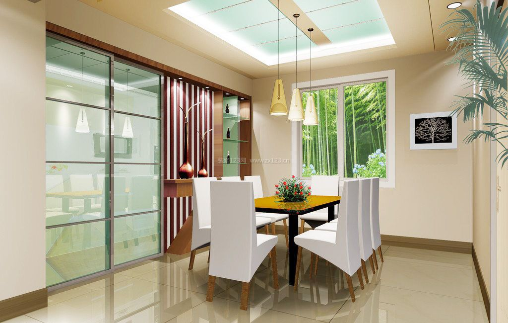 厨房餐厅玻璃门隔断装修效果图片