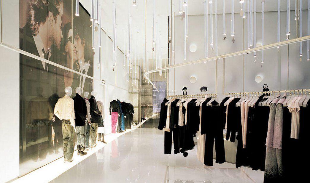 個性服裝店風格室內裝修吊頂設計_裝修123效果圖