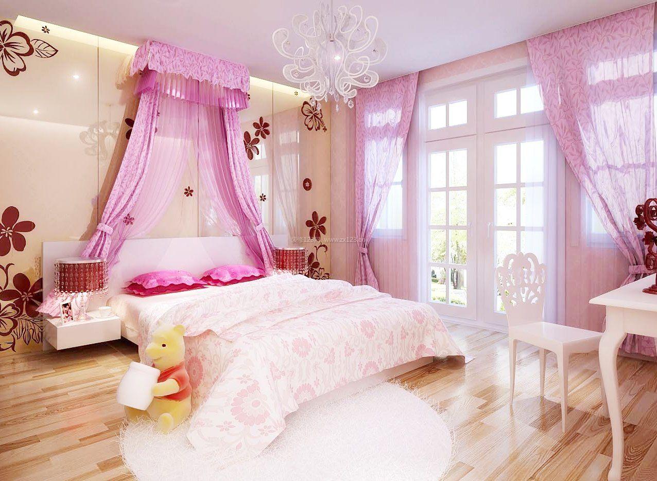 公主卧室家居灯饰装修效果图片