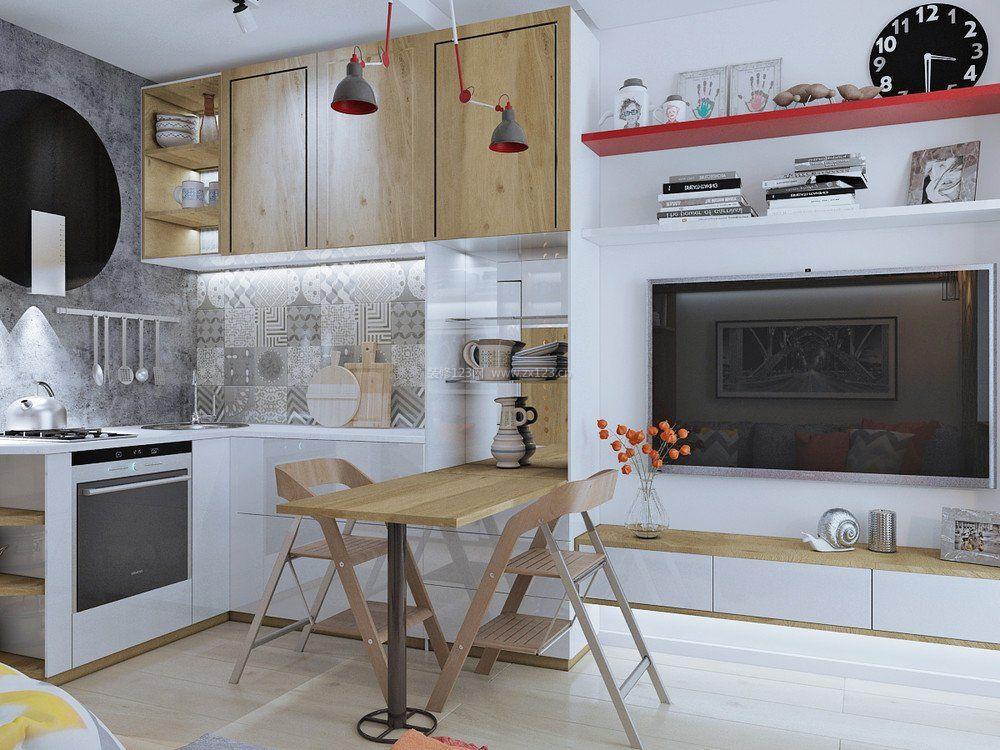 北欧风格家居厨房餐厅隔断设计效果图片