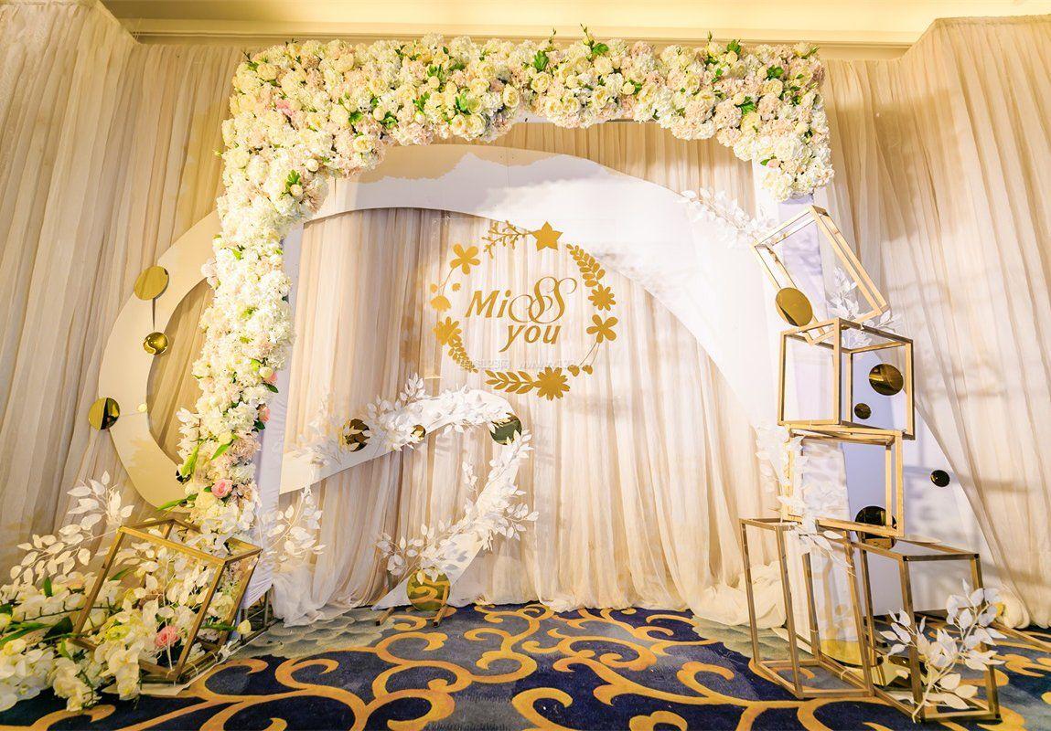 婚礼背景布置设计效果图片2017