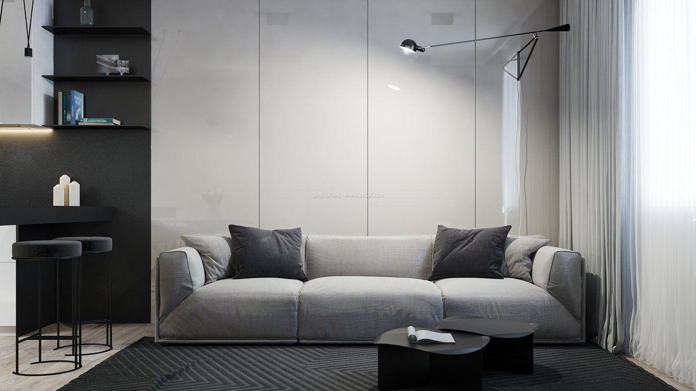 简约客厅背景墙设计装修效果图