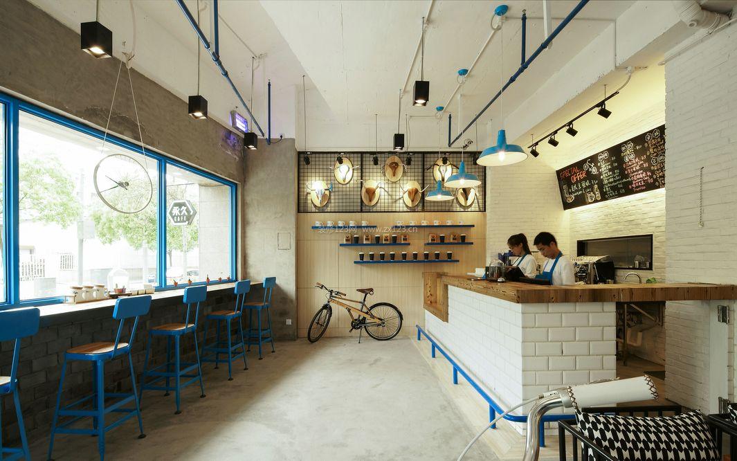 最新个性咖啡店室内装修效果图片2017