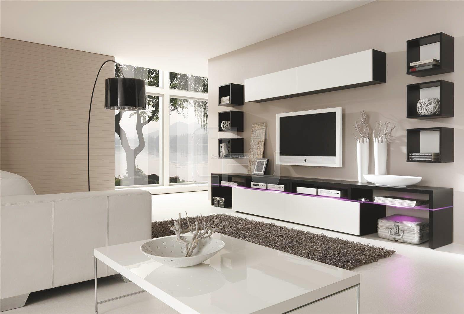 现代风格小户型电视柜装修效果图大全