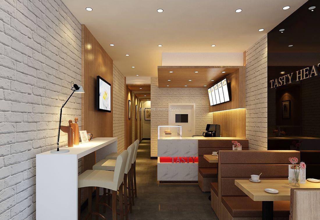 甜品店室内装修设计效果图片