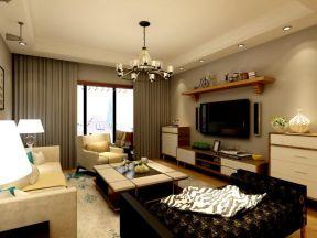簡裝修效果圖背景墻 小戶型客廳簡約