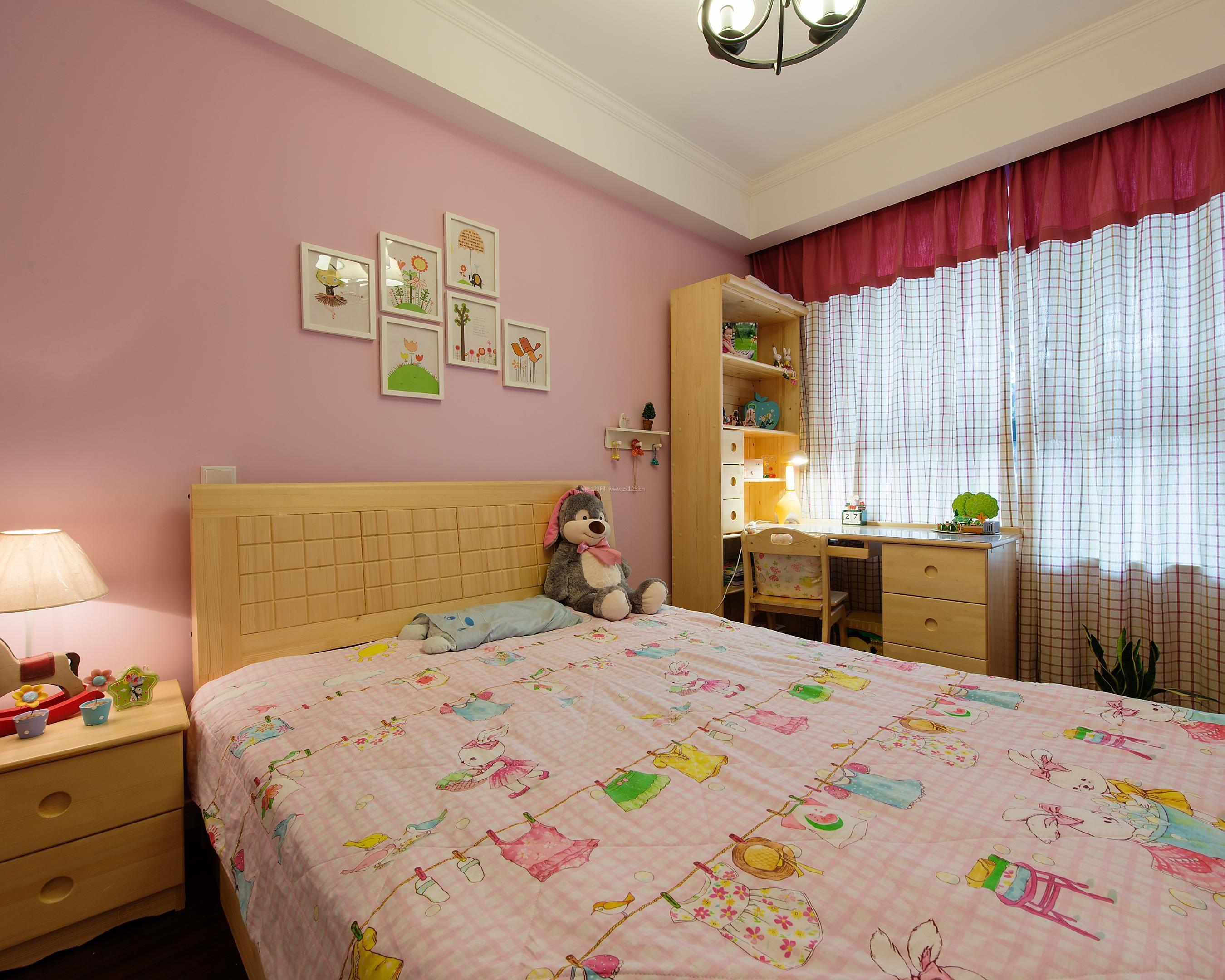 简单美式女孩卧室装修效果图图片