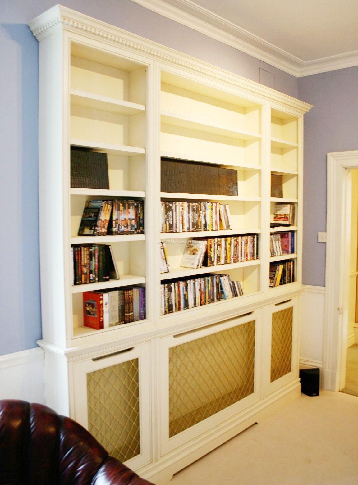 欧式储物间书柜装修效果图图片大全