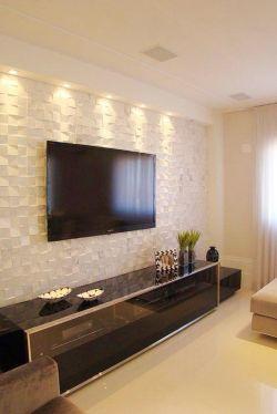 新中式风格两室两厅客厅影视墙效果图