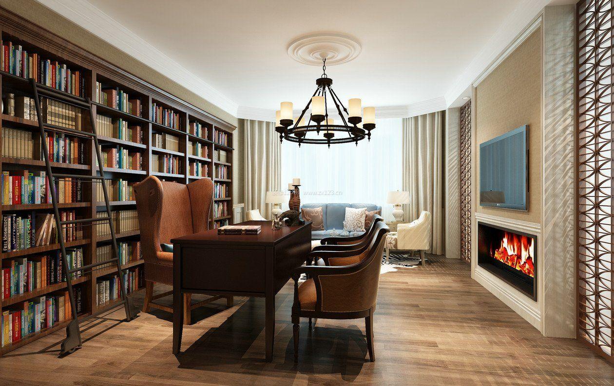 家装效果图 欧式 欧式风格家居书柜装修效果图片大全 提供者:   ←