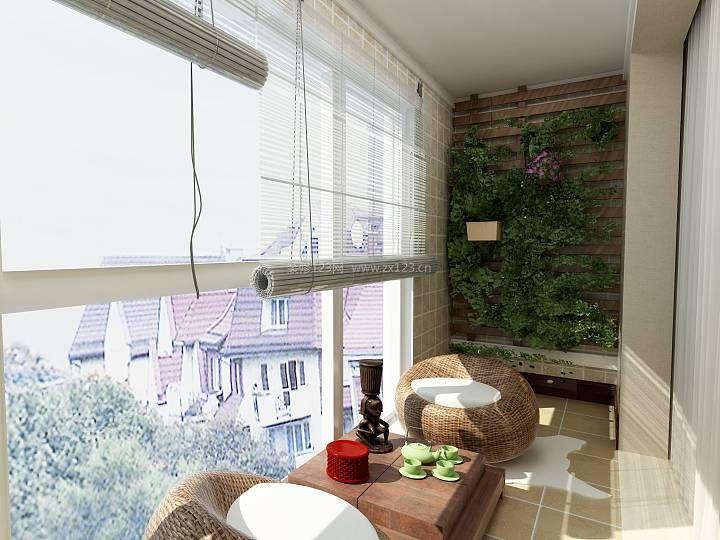 新中式风格客厅阳台休闲区装修效果图片大全