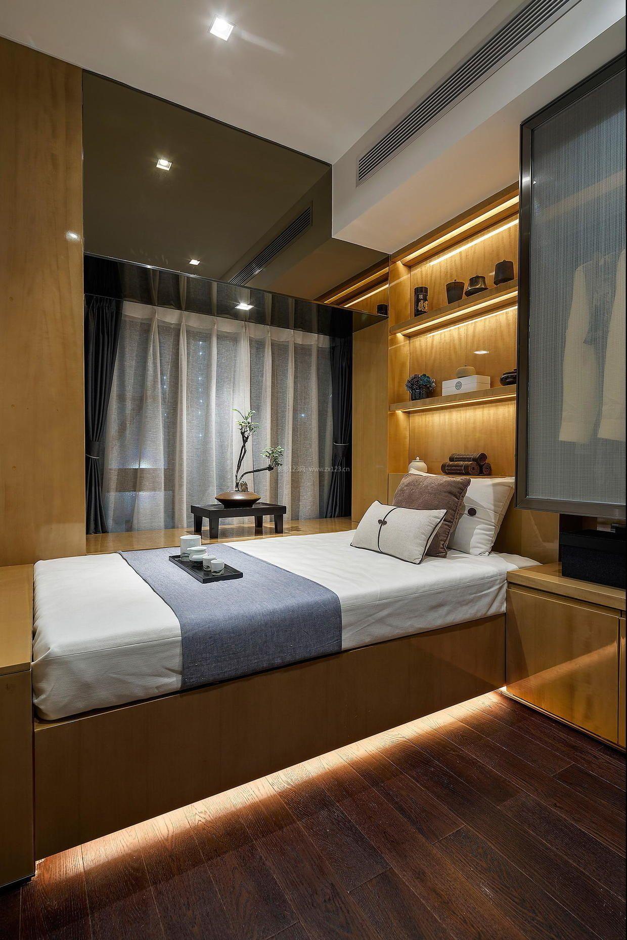 简约中式卧室榻榻米床装修效果图片图片