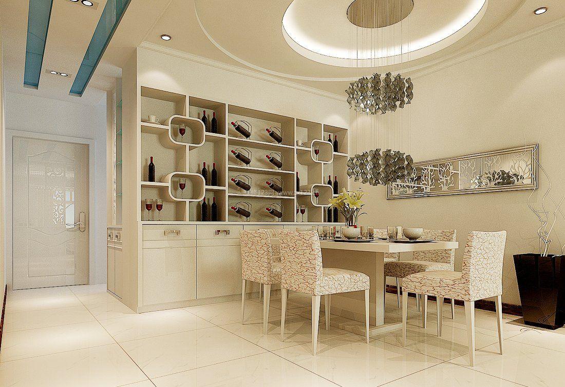 设计图分享 鞋柜酒柜一体效果图  餐桌跟酒柜一体效果图-别墅餐桌岛台