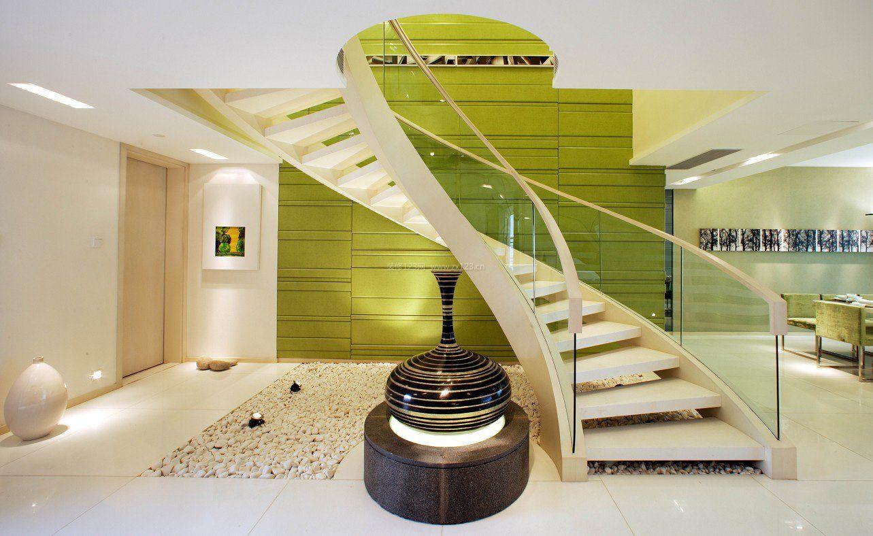 现代风格复式楼旋转楼梯装修效果图片图片