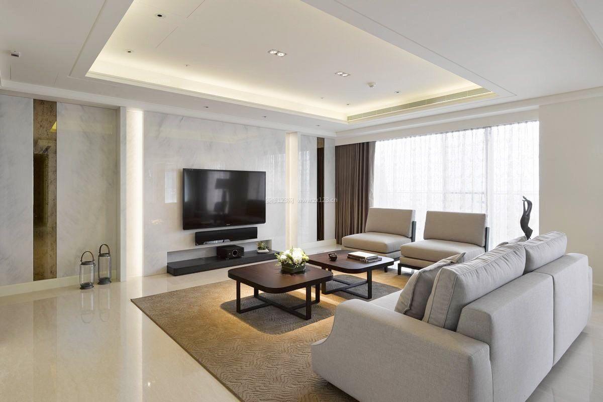 现代风格复式楼简约电视墙装修效果图大全
