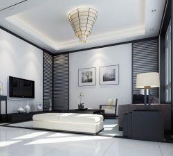 黑白簡約現代風格復式樓客廳效果圖
