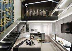 現代風格復式樓裝修效果圖黑白風格