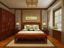 简约新中式客厅飘窗榻榻米装修效果图图片