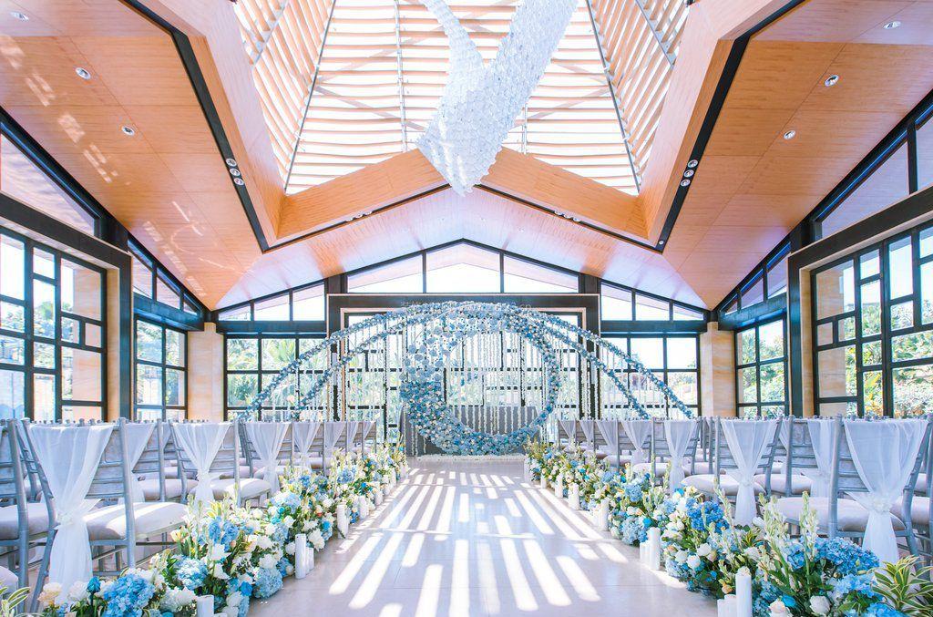 婚庆布置现场吊顶设计装修效果图片_装修123效果图