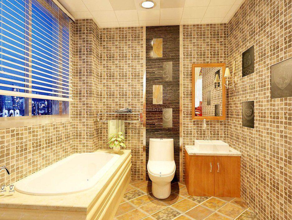 卫生间黄色地砖装修效果图片