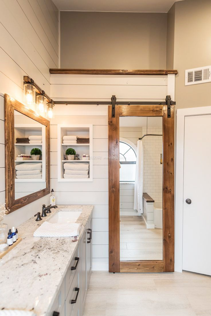 家装效果图 室内 房屋室内厕所门装修效果图 提供者